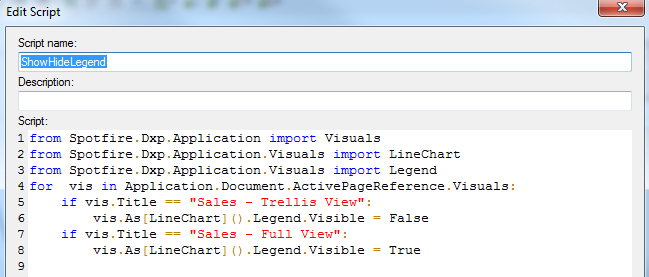Spotfire: Show/Hide Legend and Switch View Type « Analytics